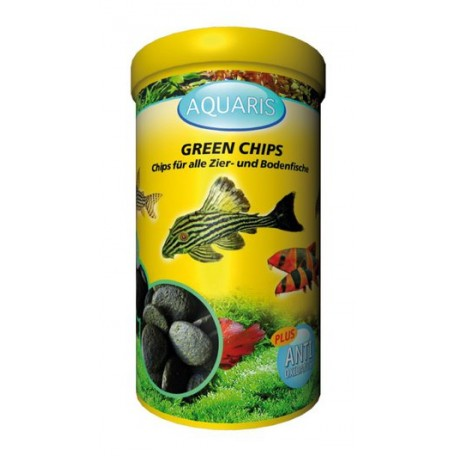 Aquarium Fischfutter für Welse - AQUARIS Green Chips - 125g / 250ml