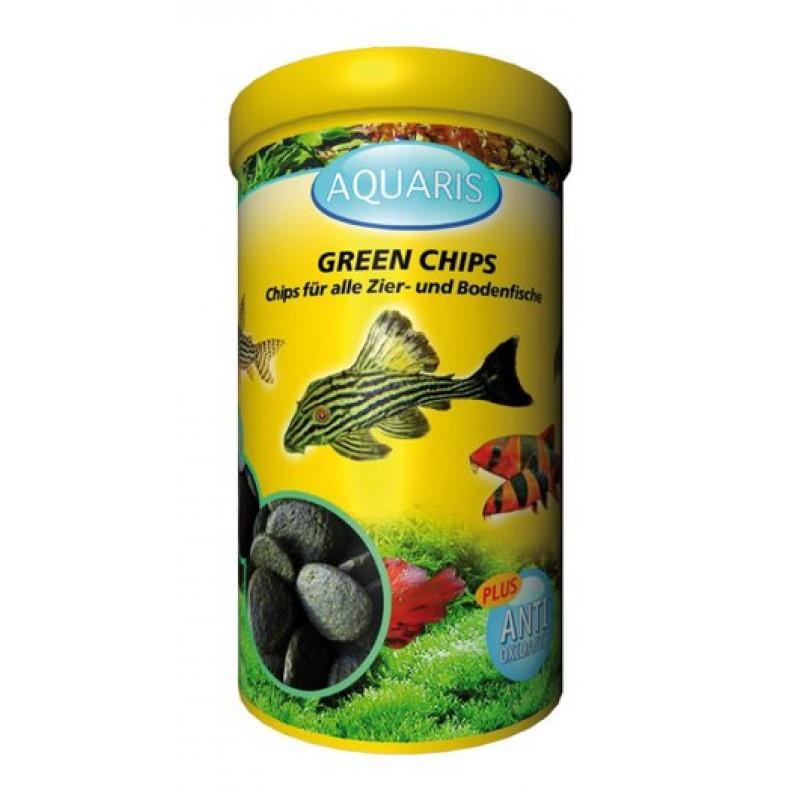 Aquarium Fischfutter für Welse - AQUARIS Green Chips - 125g / 250ml