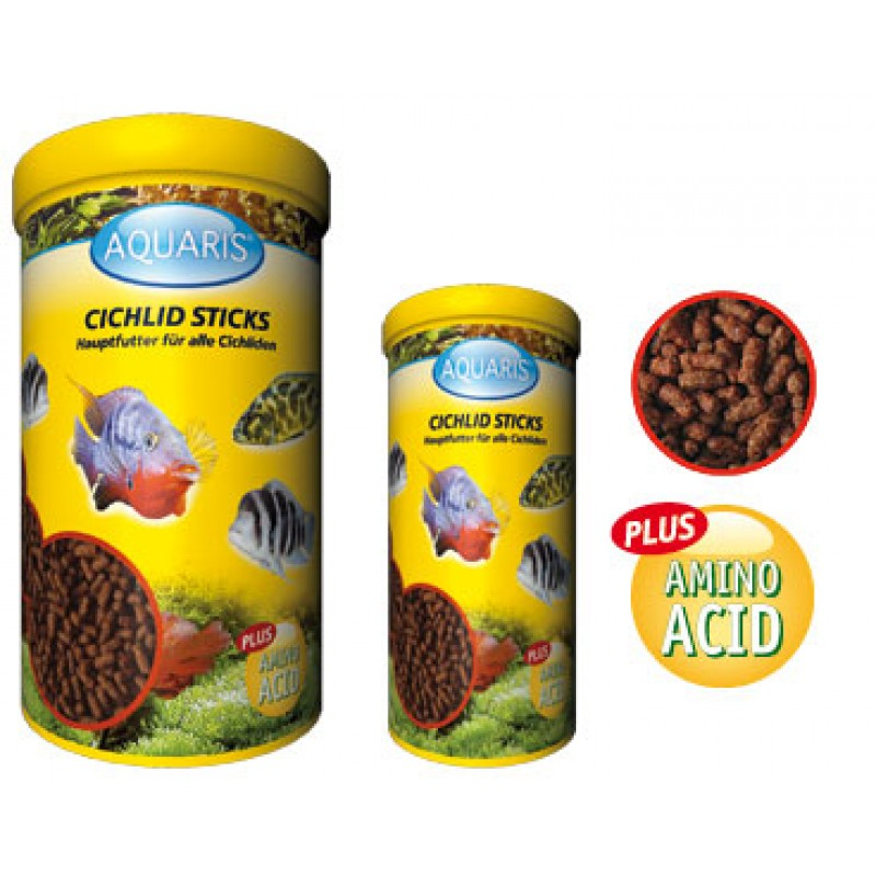 Aquarium Fischfutter - AQUARIS Cichlid Sticks - 580g / 1 L