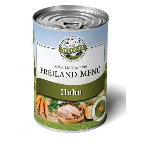 Nassfutter mit Huhn - Freiland-Menü - 400g