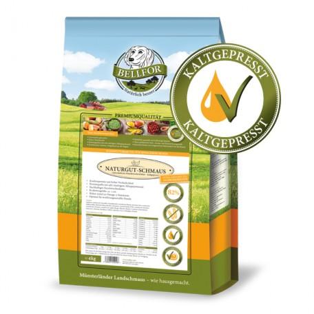 Kaltgepresst hypoallergenes Trockenfutter mit Insekten - Naturgut-Schmaus - 4 kg