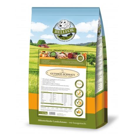 Trockenfutter mit Huhn, Truthahn & Entenfleisch - Gutshof-Schmaus - 2,5 kg