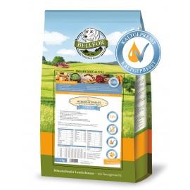 Kaltgepresst Trockenfutter für Welpen & Junge Hunde mit Huhn - Wiesen-Schmaus Junior - 4 kg